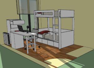 Habitación a medida: proyecto y diseño en 3D